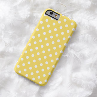Caso del iPhone 6 del lunar en amarillo del ánimo Funda De iPhone 6 Barely There