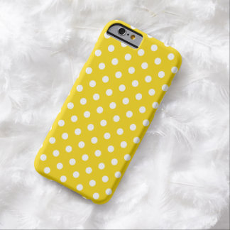 Caso del iPhone 6 del lunar en amarillo limón Funda De iPhone 6 Barely There