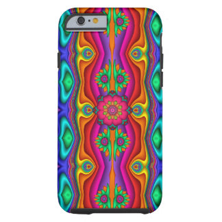 Caso del iPhone 6 del modelo del flower power Funda Resistente iPhone 6