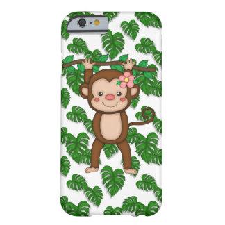 Caso del iPhone 6 del mono apenas allí Funda Barely There iPhone 6