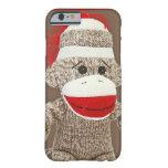 caso del iPhone 6 del mono del calcetín Funda De iPhone 6 Barely There