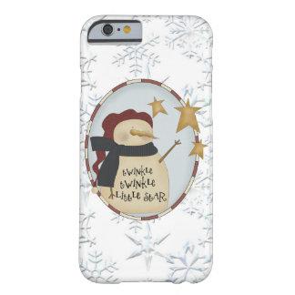 Caso del iPhone 6 del muñeco de nieve del navidad Funda Barely There iPhone 6