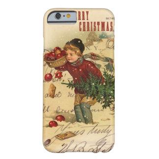 Caso del iPhone 6 del navidad del vintage Funda De iPhone 6 Barely There