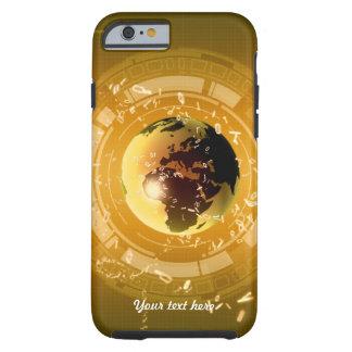 Caso del iPhone 6 del oro de la tecnología de la Funda De iPhone 6 Tough