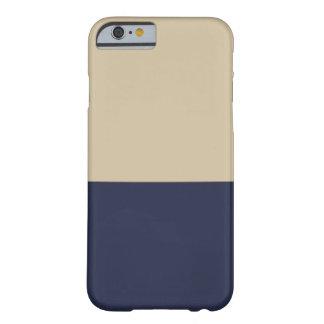 Caso del iPhone 6 del oro y de la marina de guerra Funda De iPhone 6 Barely There