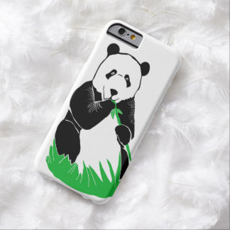 Caso del iPhone 6 del oso de panda Funda De iPhone 6 Barely There