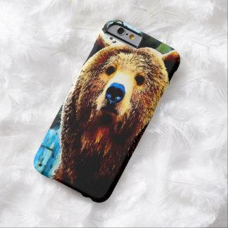 Caso del iPhone 6 del oso grizzly de la acuarela Funda De iPhone 6 Barely There