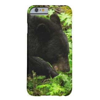 Caso del iPhone 6 del oso negro Funda Para iPhone 6 Barely There