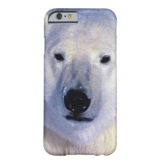 Caso del iPhone 6 del oso polar Funda De iPhone 6 Barely There