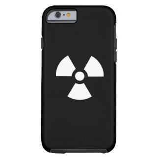 Caso del iPhone 6 del pictograma de la radiación Funda Resistente iPhone 6