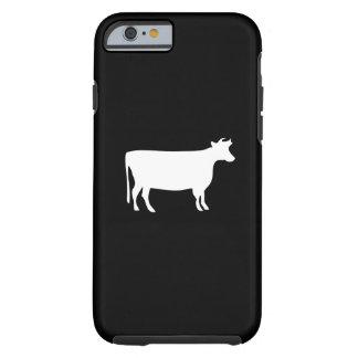 Caso del iPhone 6 del pictograma de la vaca Funda De iPhone 6 Tough