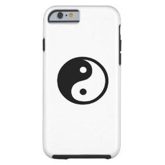 Caso del iPhone 6 del pictograma de Yin Yang Funda De iPhone 6 Tough