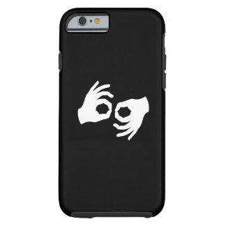 Caso del iPhone 6 del pictograma del lenguaje de Funda Resistente iPhone 6