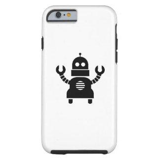 Caso del iPhone 6 del pictograma del robot Funda De iPhone 6 Tough