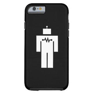 Caso del iPhone 6 del pictograma del robot Funda Resistente iPhone 6