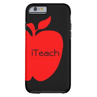 Caso del iPhone 6 del profesor rojo y negro Funda De iPhone 6 Tough