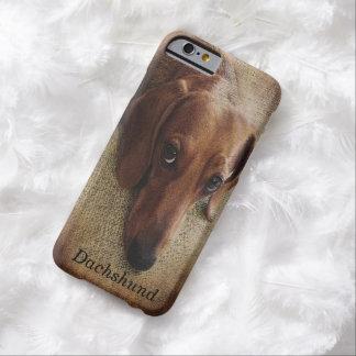Caso del iPhone 6 del retrato del Dachshund Funda Barely There iPhone 6
