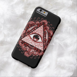 Caso del iPhone 6 del símbolo de Illuminati Funda De iPhone 6 Barely There