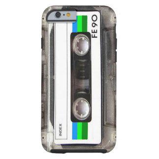 Caso del iPhone 6 del verde de la cinta de casete Funda De iPhone 6 Tough
