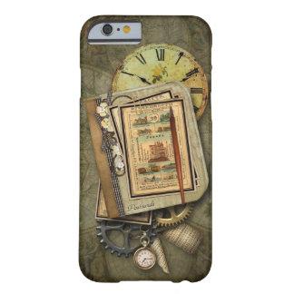 Caso del iPhone 6 del viaje de Steampunk del Funda Barely There iPhone 6