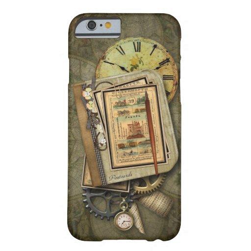 Caso del iPhone 6 del viaje de Steampunk del Funda Para iPhone 6 Barely There