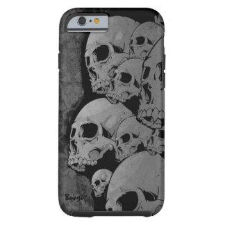 caso del iPhone 6 duro - cráneos del zombi