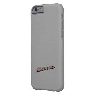 caso del iPhone 6 en el gris para Nichole Funda De iPhone 6 Barely There