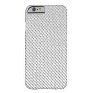 caso del iPhone 6 - fibra de carbono - blanco