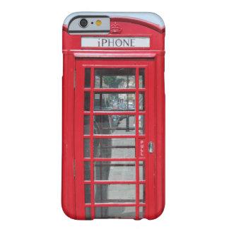 caso del iPhone 6: Foto roja clásica de la cabina Funda De iPhone 6 Barely There