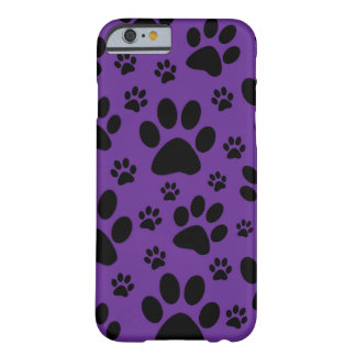 caso del iPhone 6, impresiones púrpuras de la Funda De iPhone 6 Barely There