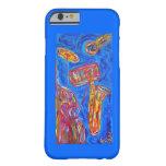 caso del iPhone 6 - jazz azul fresco Funda De iPhone 6 Barely There
