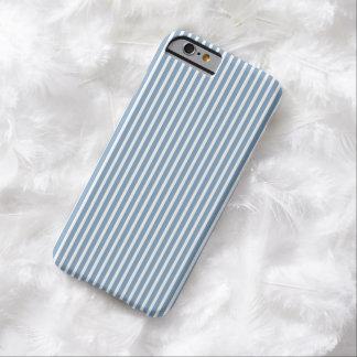 caso del iPhone 6 - las rayas tienden en azul de Funda De iPhone 6 Barely There