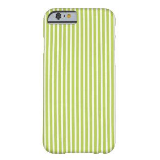 caso del iPhone 6 - las rayas tienden en verde Funda De iPhone 6 Slim
