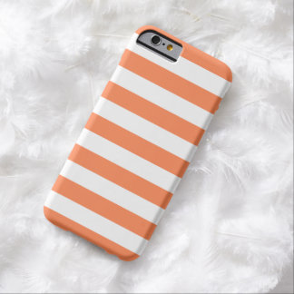 caso del iPhone 6 - rayas intrépidas anaranjadas Funda Para iPhone 6 Barely There