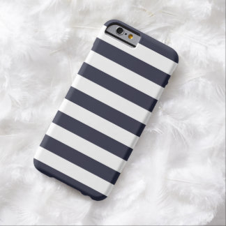 caso del iPhone 6 - rayas intrépidas de los azules Funda Para iPhone 6 Barely There