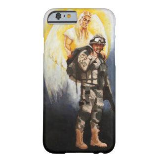 caso del iPhone 6 - soldado con ángel de guarda Funda Barely There iPhone 6