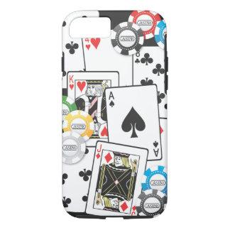 Caso del iPhone 7 de la mano de póker Funda iPhone 7