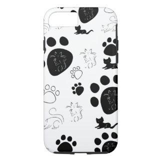 Caso del iPhone 7 de las patas de los gatitos Funda iPhone 7