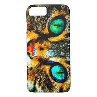 Caso del iPhone 7 de los ojos de gato de la Funda iPhone 7