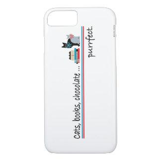 "Caso del iPhone 7 de ""Purrfect"" Funda iPhone 7"