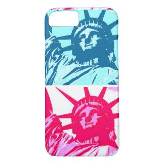 Caso del iPhone 7 de señora Liberty del arte pop Funda iPhone 7