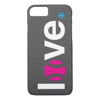 Caso del iPhone 7 del amor del tenis Funda iPhone 7