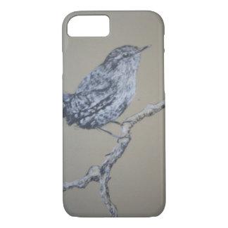Caso del iPhone 7 del arte del pájaro, Wren Funda iPhone 7