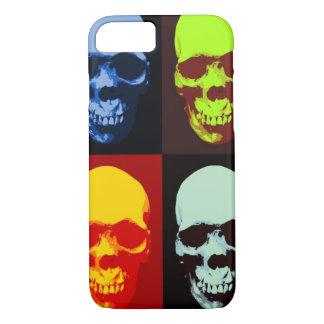 Caso del iPhone 7 del cráneo del arte pop Funda iPhone 7
