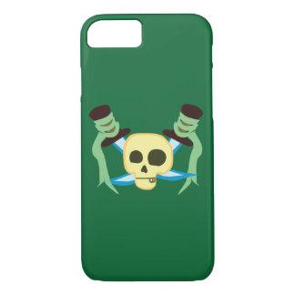 Caso del iPhone 7 del cráneo y de las espadas del Funda iPhone 7