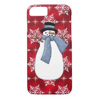 Caso del iPhone 7 del muñeco de nieve del navidad Funda iPhone 7