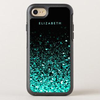 Caso del iPhone 7 del negro del brillo del verde Funda OtterBox Symmetry Para iPhone 7
