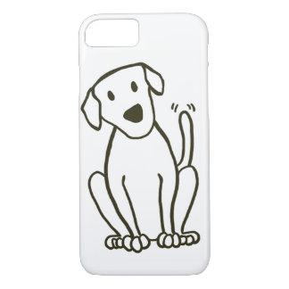 Caso del iPhone 7 del perro - amor de Labrador Funda iPhone 7
