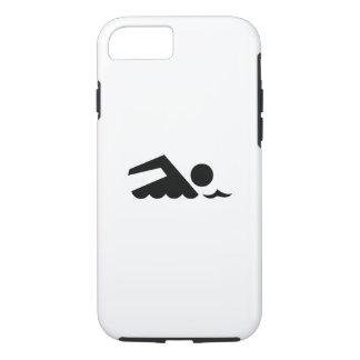 Caso del iPhone 7 del pictograma del nadador Funda iPhone 7