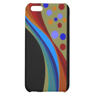 Caso del iPhone abstracto 5C del arco iris y de